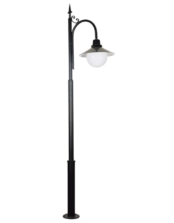 Cast aluminum armature triple arm lamp post garden street light pole spear design 3 meters outdoor lighting pole garden lamp post aloadofball Image collections
