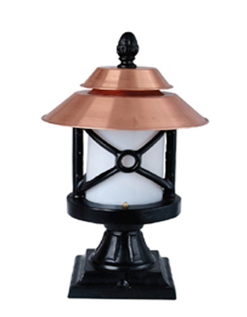 Traditional Design Garden Pillar Lamp Vintage Park Lamp