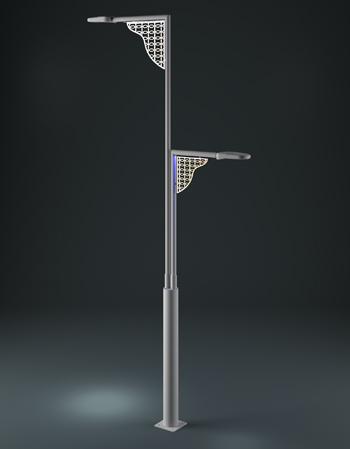 Decorative Street Light Pole Led Lighting Steel Street